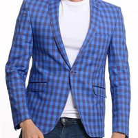 ModaForMen Vichy Print Blazer Made In Europe