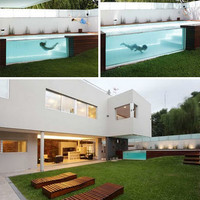 Decked Out: Wood Patio + Above-Ground Swimming Pool | Designs & Ideas on Dornob