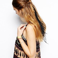 Feather Chain Hair Grip
