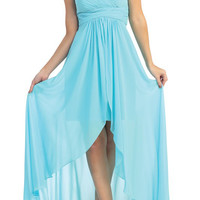 Rent High low chiffon bridesmaid dresses | Rent the Dress