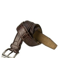 Joseph Abboud 100% Leather Crocodile Embossed Belt - 			        	Festival Fashion Shop