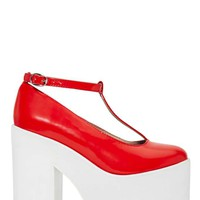 Jeffrey Campbell Shoop Platforms - Red