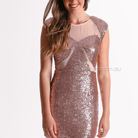 sasha cocktail dress - rose gold