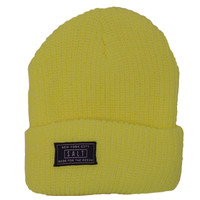Salt Surf - Neon Yellow Beanie