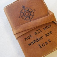 small leather journal sketchbook hand-printed custom for you by In Blue | Hatch.co