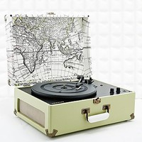 Crosley Keepsake Map Turntable UK Plug - Urban Outfitters