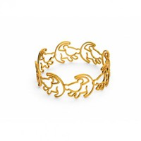 Gold Plated Simba Outline Lion King Ring From Disney Couture : TruffleShuffle.com