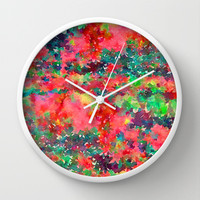 Wild At Heart Wall Clock by Jacqueline Maldonado