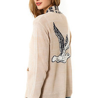 The Nantucket Cardigan Sweater in Heather Oatmeal