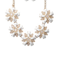 Crystal Floral & Drop Earring Set