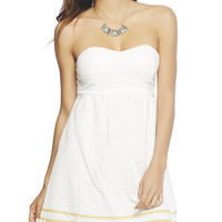 Embroidered Eyelet Tube Dress | Wet Seal