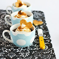 raspberri cupcakes: S'more Chocolate Pots