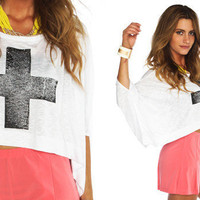 Furor Moda - White Cross Top