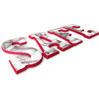 Baseball Wall Letters by HookUUpCustomCrafts on Etsy