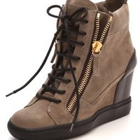 Giuseppe Zanotti Double Zip Wedge Sneakers | SHOPBOP
