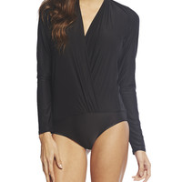 Plunging Neckline Long-Sleeve Bodysuit | Arden B.