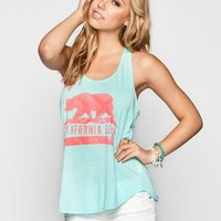 Billabong Flower Bear Womens Tank Mint  In Sizes