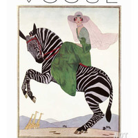 Vogue Cover - January 1926 Premium Giclee Print by André E. Marty at Art.com