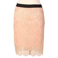 soft kisses lace skirt