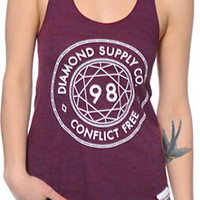 Diamond Supply Co. Conflict Free Cranberry Tank Top