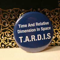 ONE Epic TARDIS 15 Pinback Button by BayleafButtons on Etsy