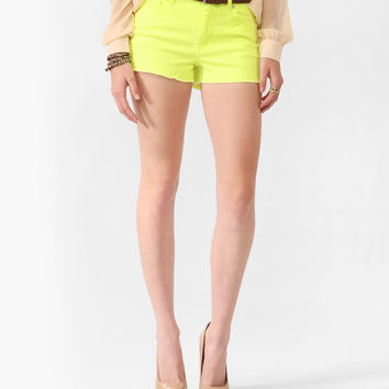 High-Rise Neon Shorts w/ Belt | FOREVER21 - 2000037398