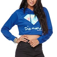 Diamond Supply Co Crop Floral Pullover Hoodie at PacSun.com