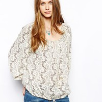 Denim & Supply By Ralph Lauren Floral Peasant Top