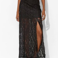Lace High-Slit Maxi Skirt