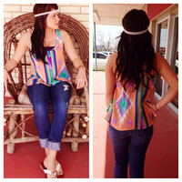 neon nights top | Aden Ann's