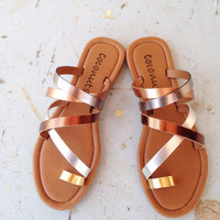 shine on sandal | Aden Ann's