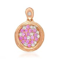 Vida 14K Rose Gold Pendant with 0.19 CTW Sapphires , Diamond - 			        	Sunglasses mens