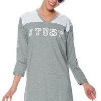 STUSSY FOOTBALL TUNIC DRESS