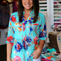 Floral Tunic {Mint}