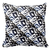 Black and White Aztec Pattern Pillow