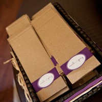 Maile Purple Wedding Programs- Natural, Rustic, Elegant | pghpapercraft - Wedding on ArtFire