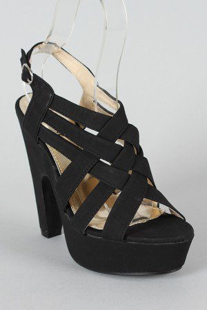 Highform Strappy Open Toe Platform Sandal