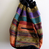 Vintage Southwestern Style Indian Tribal Backpack by inzoopsia