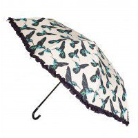 Hummingbird Frill Umbrella  | Clothing | Oliver Bonas