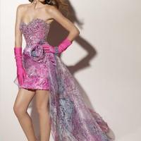Sheath/Column Sweetheart Neckline Sequins Watteau Train Prom Dress - Basadress.com