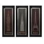 IMAX Journeys Wall Panel (Set of 3) - 12631-3 - Decor