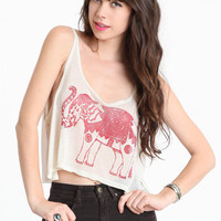 Elephant Deities Crop Top by John Galt - $32.00 : ThreadSence.com, Your Spot For Indie Clothing  Indie Urban Culture