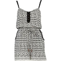 cream aztec print playsuit, River Island