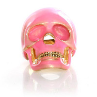 Rad Skull Ring - Pink Skull Ring - Mint Skull Ring - &amp;#36;12.00