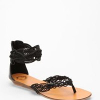Ecote Macrame Ankle Strap Sandal
