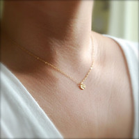 Hokuli'ili'i necklace  a tiny hammered gold by kealohajewelry