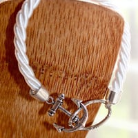 Simple Rope Bracelet with Anchor by p4pministry on Etsy