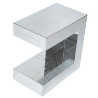 Space Modern - Paul Evans - Paul Evans Chrome Patchwork Occasional Table - 1stdibs