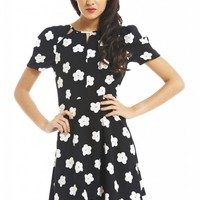 Daisy Cut Out Neck Dress