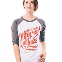 Different Not Less Boyfriend Baseball Tee